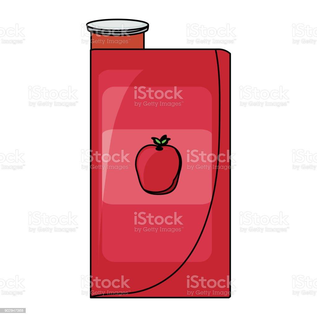 Apple Juice Box-Symbol – Vektorgrafik