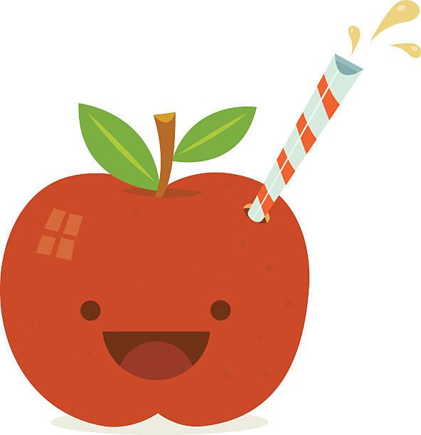 Apfelsaft Charakter – Vektorgrafik