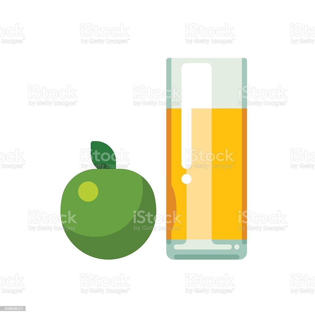 Apfelsaft in Glas – Vektorgrafik