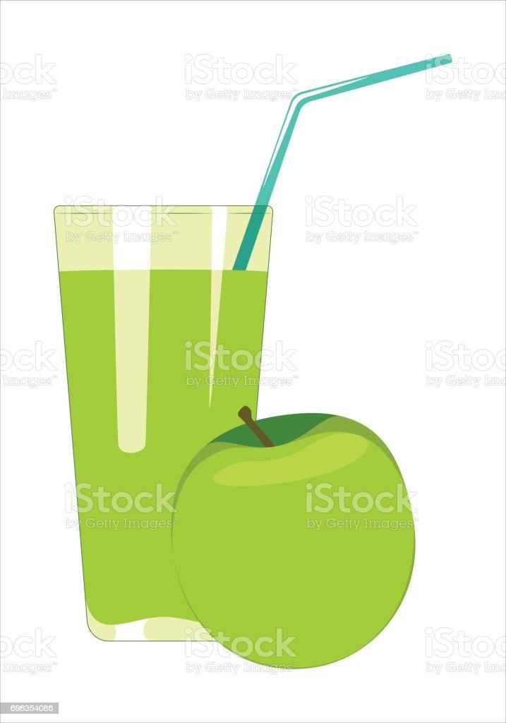 Apfelsaft im Glas. – Vektorgrafik