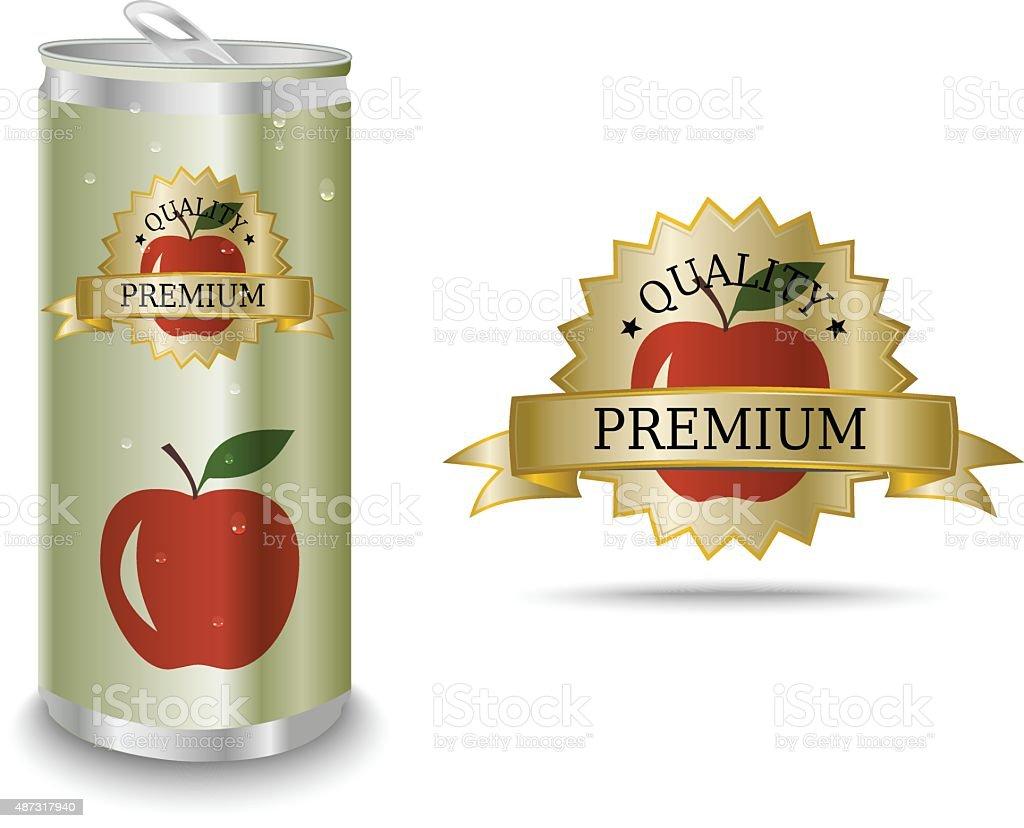 Apfelsaft label – Vektorgrafik