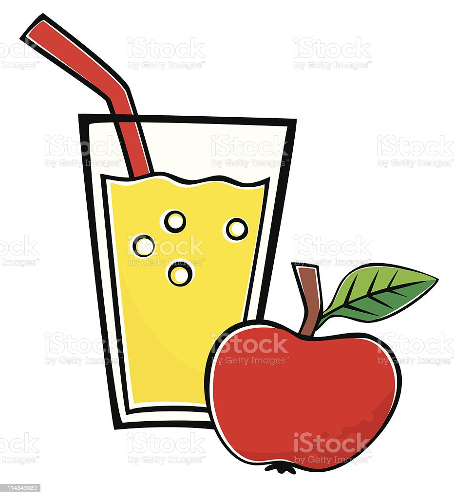royalty free apple juice in glass clip art vector images rh istockphoto com apple juice box clipart apple juice clipart free