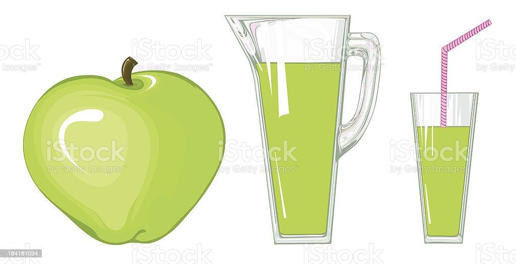 Apple juice vector art illustration