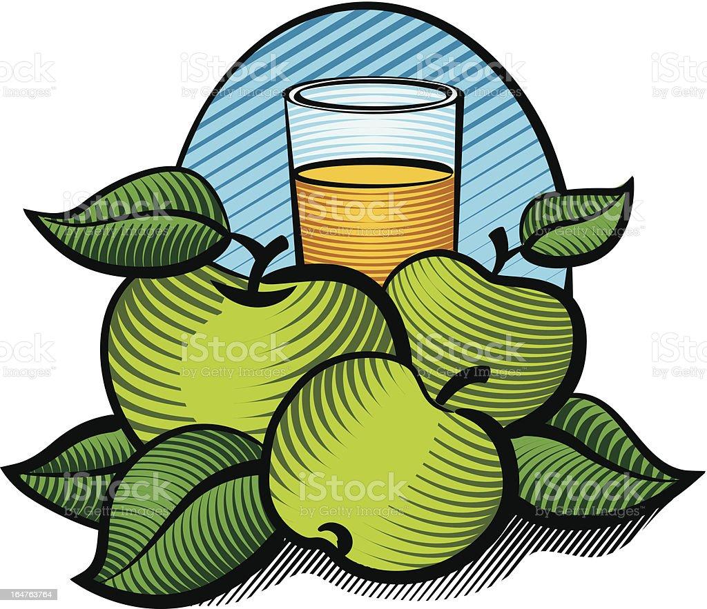 apple juice – Vektorgrafik