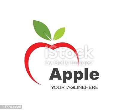 Apple logo icon vector illustration design template