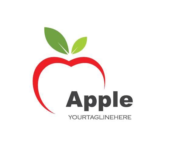 illustrazioni stock, clip art, cartoni animati e icone di tendenza di apple logo icon vector illustration design - mela