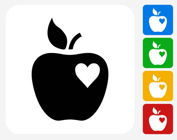 Download Heart Shaped Apple Illustrations, Royalty-Free Vector ...