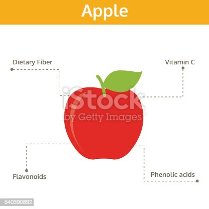 Apple Nutrient Of Facts And Health Benefits Info Graphic Vegetable