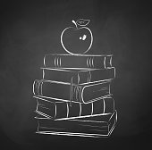 Apple on books.