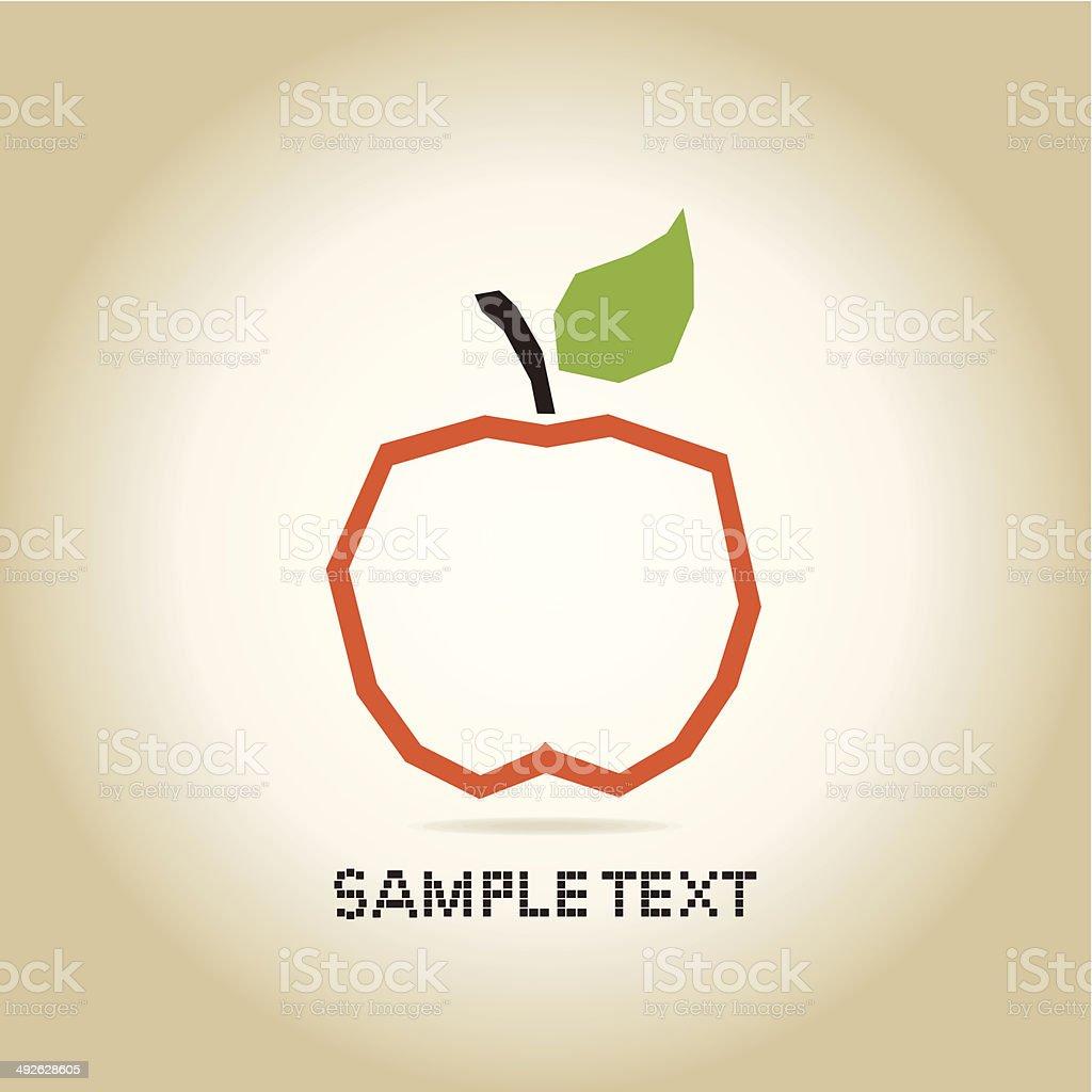 Apple orange royalty-free stock vector art