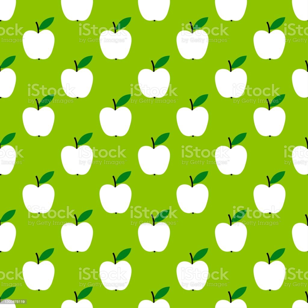 Apple Pattern Fruit Seamless Background Or Wallpaper Repeated Design Great For Kitchen And Food Digital Paper Textile Fabric Decor Wrapping Vintage Surface Stock Illustration Download Image Now Istock