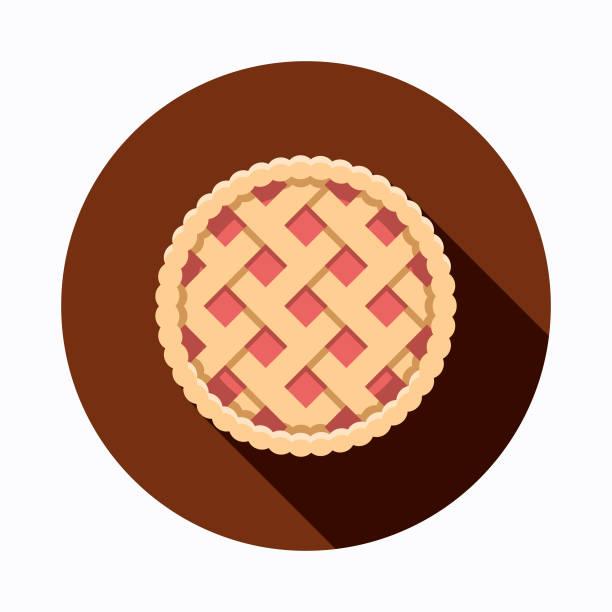 apple pie flat design baking icon - pie stock illustrations, clip art, cartoons, & icons