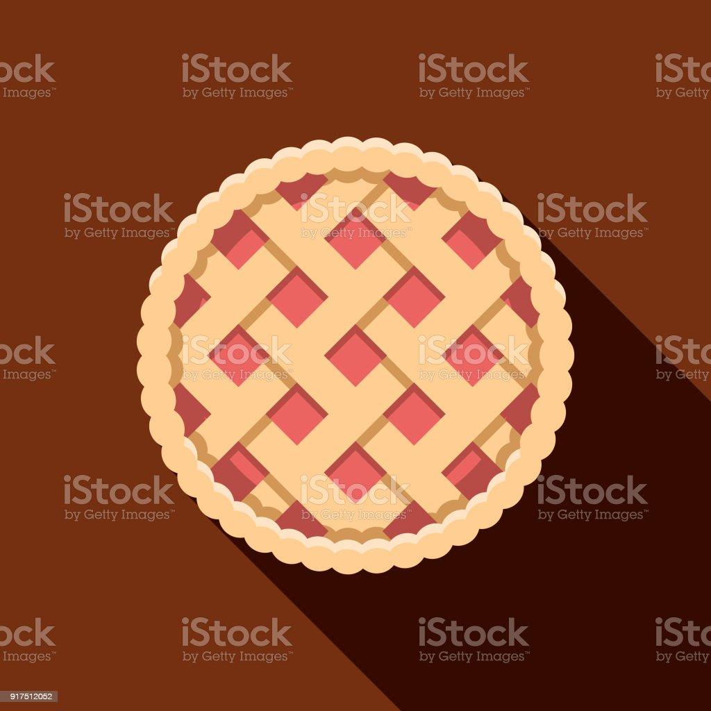 Apple Pie Flat Design Baking Icon Stock Illustration - Download
