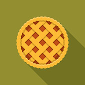 This is a vector illustration of a slice of apple pie with whipped cream on top! (This download is in an Adobe Illustrator EPS 10 file format and has one transparency (the shadow under the pie) but no transparent blends.) All elements are placed in separate layers for easy selection and editing.