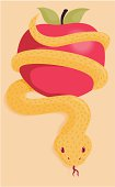 Apple Serpent Temptation