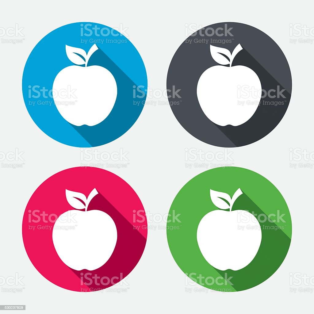 apple sign icon fruit with leaf symbol stock vector art & more
