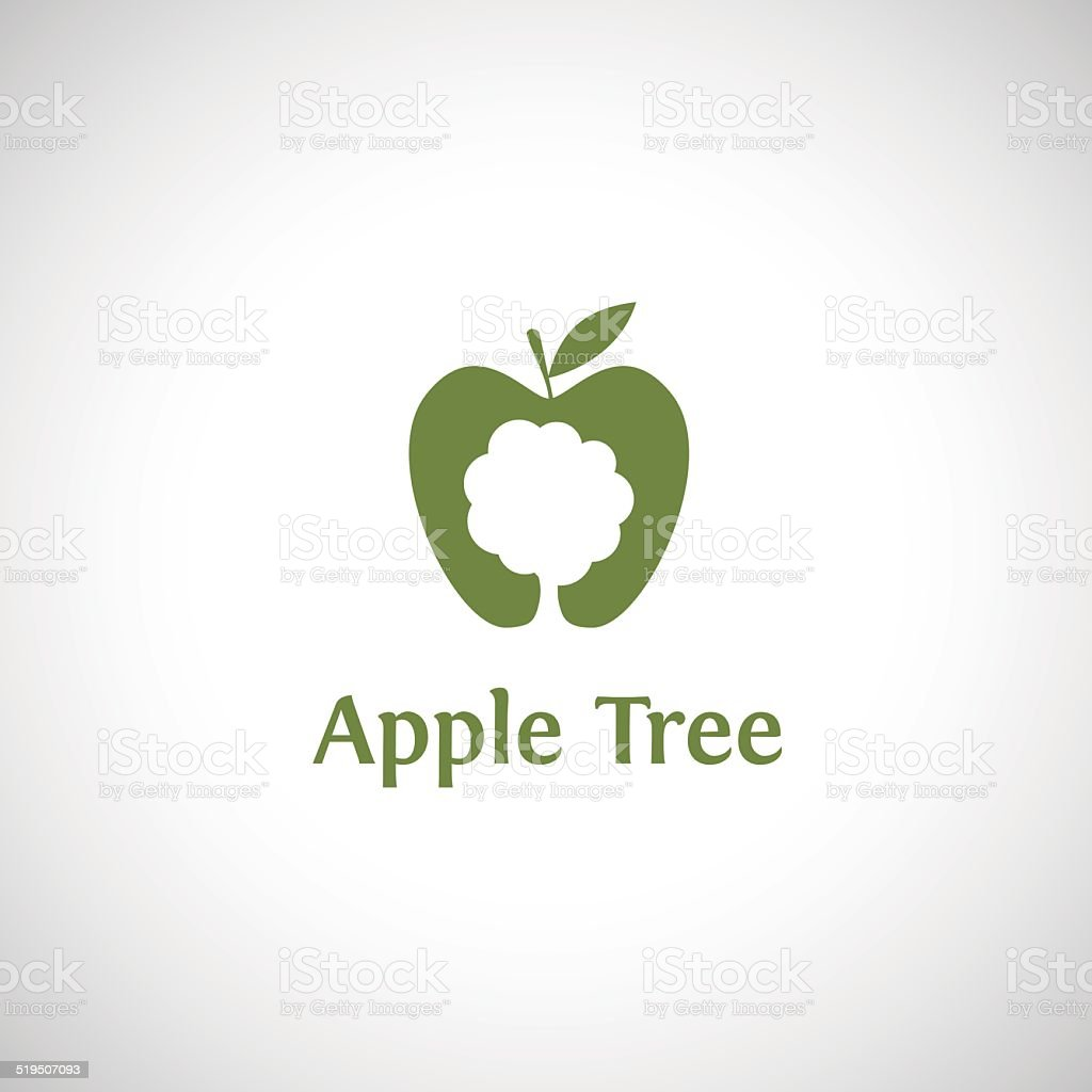 Apple Tree Abstract Logo Vector Design Template Stock Illustration Download Image Now Istock
