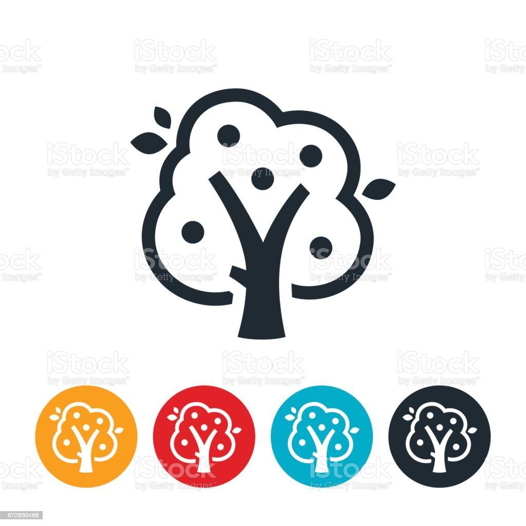 Apple Tree Icon vector art illustration