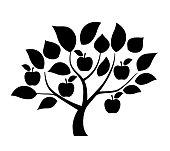 Apple tree illustration
