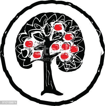 apple tree silhouette stock vector art 510159974 istock