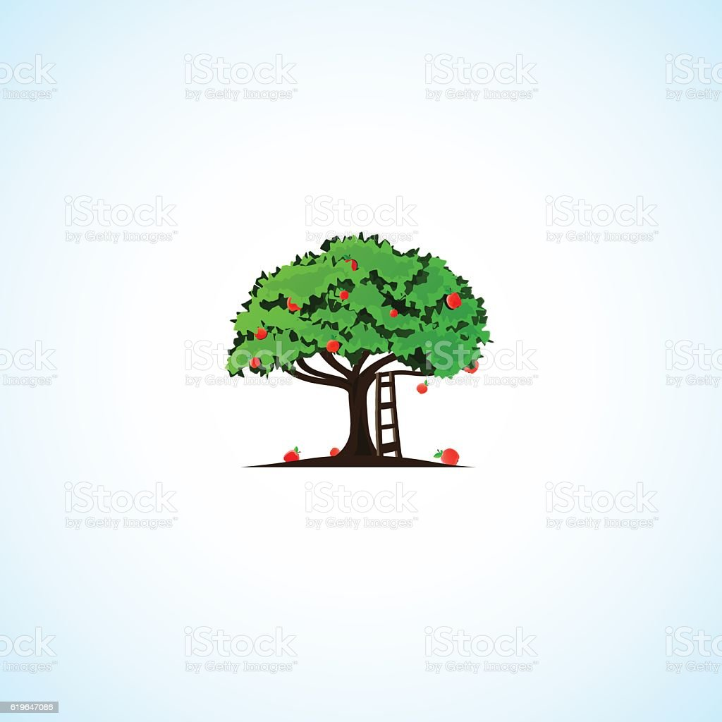 Apple Tree. vector art illustration