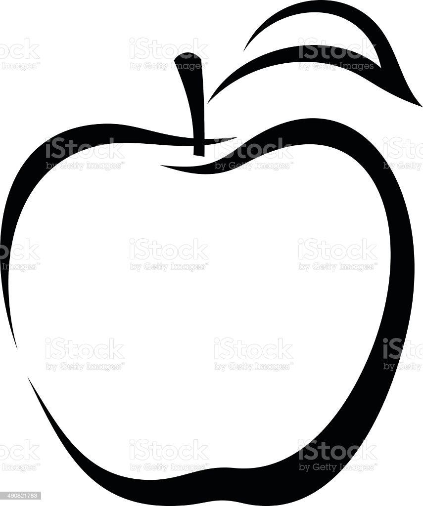 Apple vector black contour stock vector art more images of apple vector black contour royalty free apple vector black contour stock vector art buycottarizona