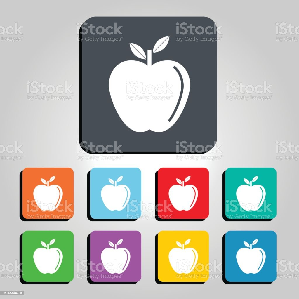 Apple Vector Icon Illustration vector art illustration