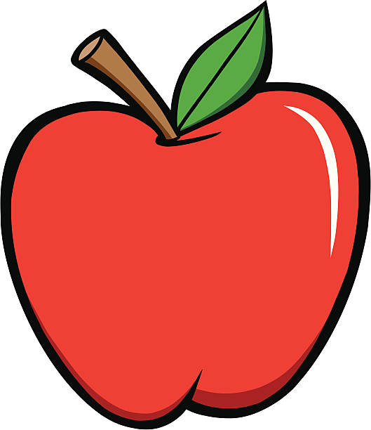 Royalty Free Red Apple Cartoon Clip Art Vector Images