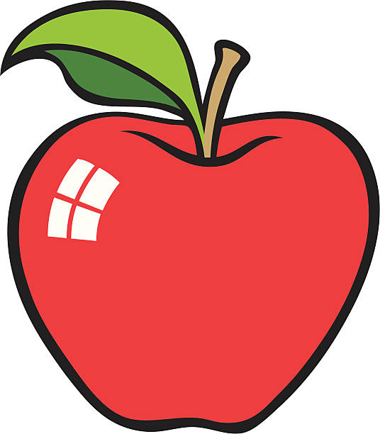 Best Red Apple Cartoon Illustrations, Royalty-Free Vector ...