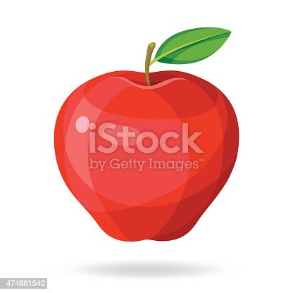 Vector illustration of an apple.