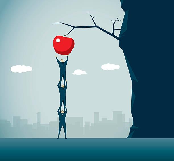 ilustrações de stock, clip art, desenhos animados e ícones de apple - picking fruit