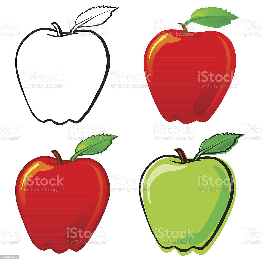Apple royalty-free apple stock vector art & more images of apple - fruit