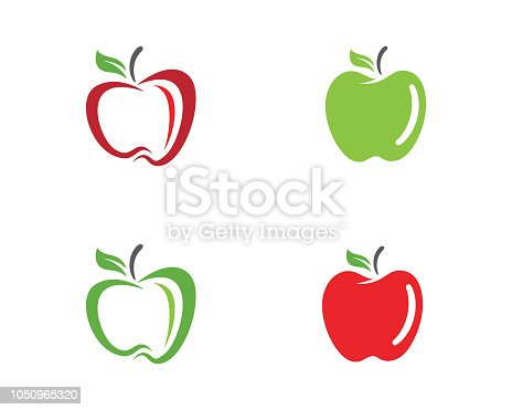 Apple vector illustration design icon logo template