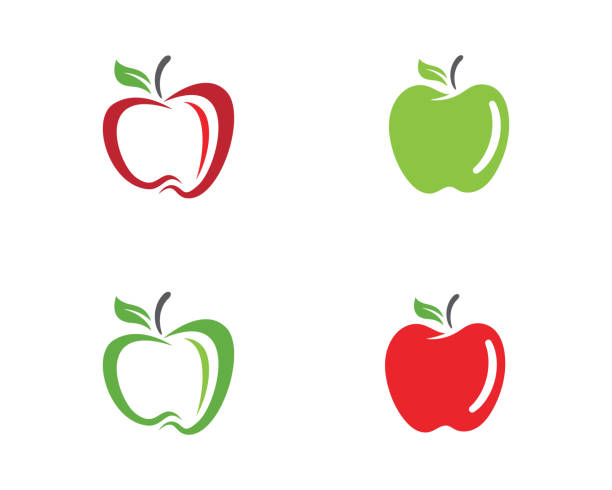 apple-vektor-illustration - apple stock-grafiken, -clipart, -cartoons und -symbole