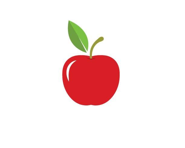 illustrazioni stock, clip art, cartoni animati e icone di tendenza di apple vector illustration - mela