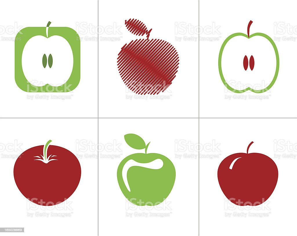 Apple - vector symbols royalty-free stock vector art