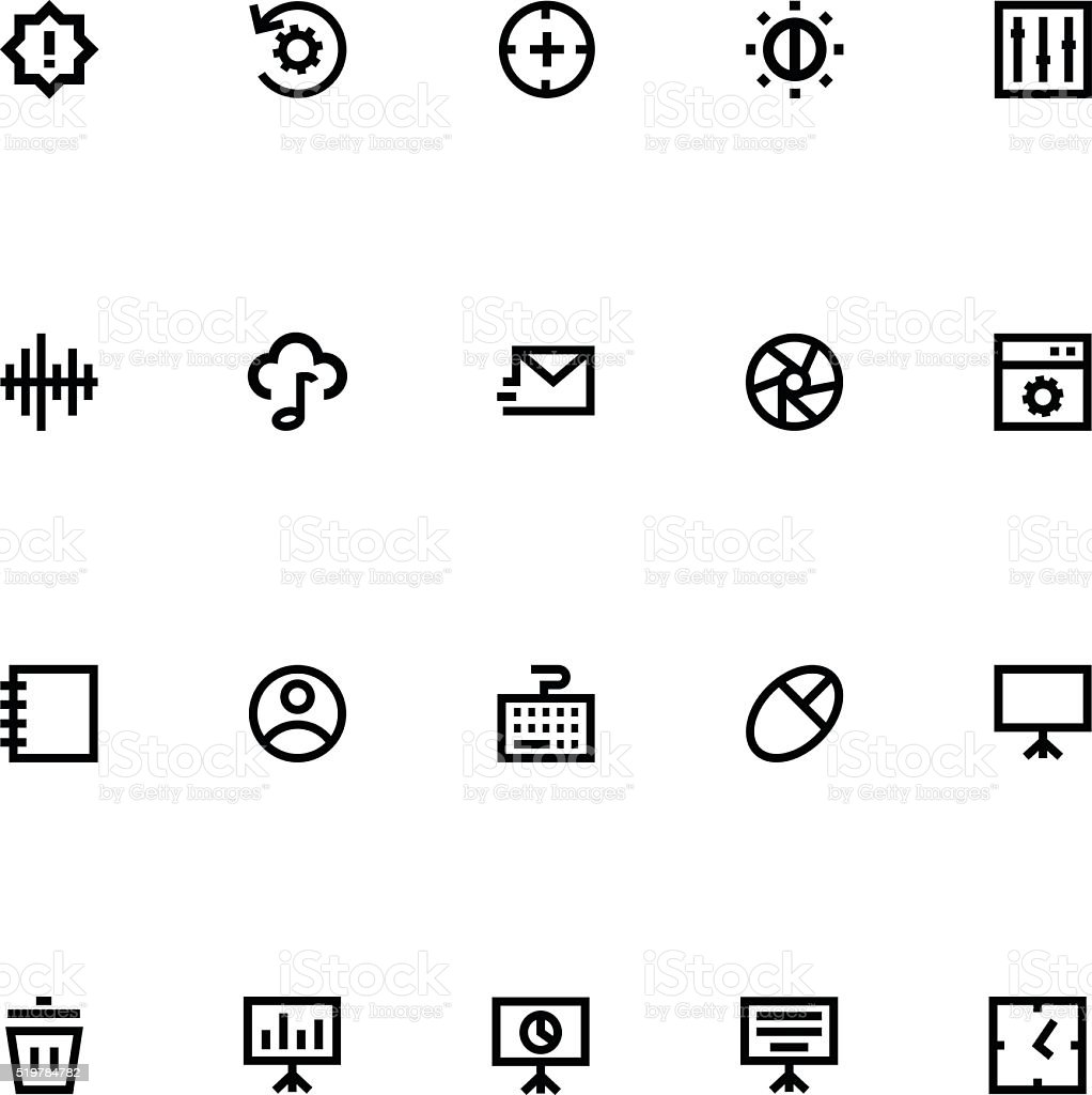 Apple Watch Vector Icons 11 vector art illustration