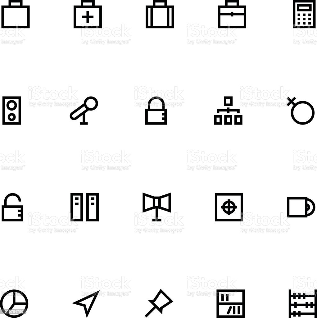 Apple Watch Vector Icons 12 vector art illustration