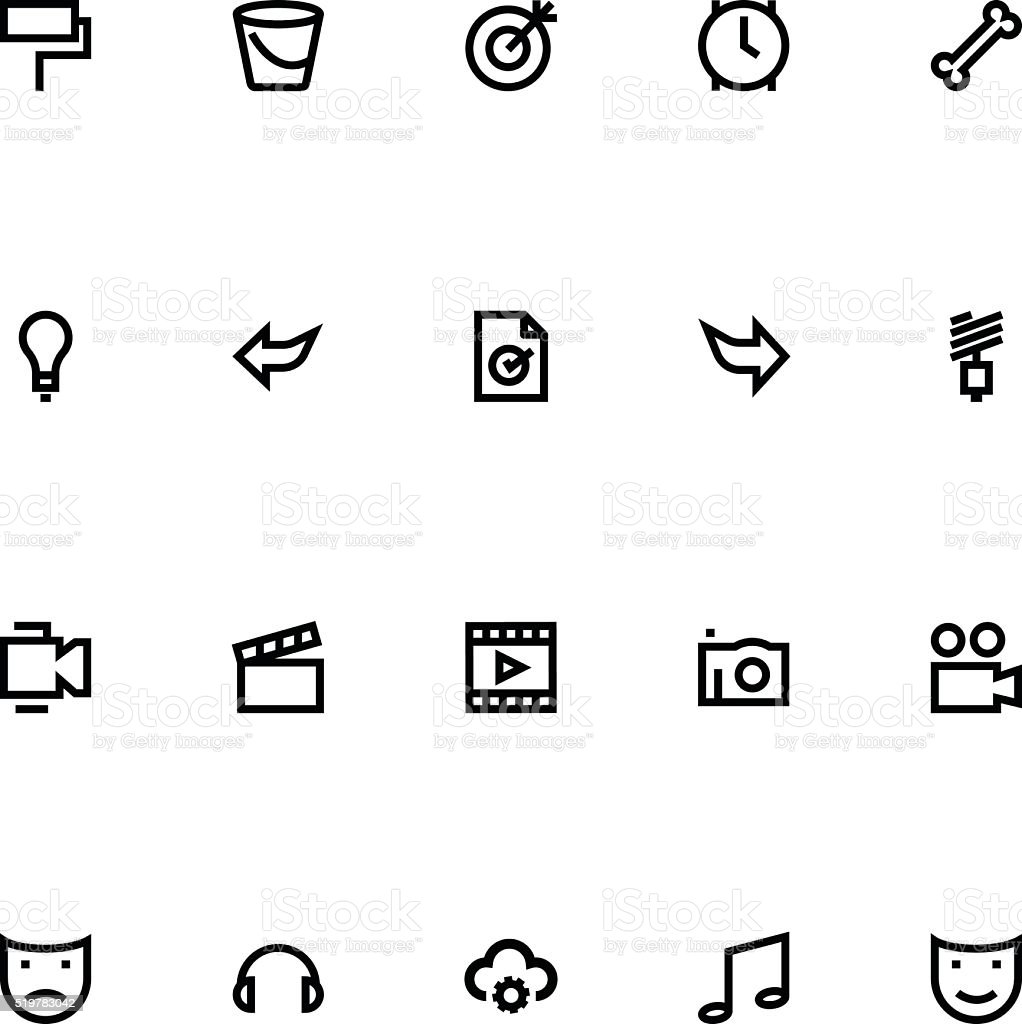 Apple Watch Vector Icons 9 vector art illustration