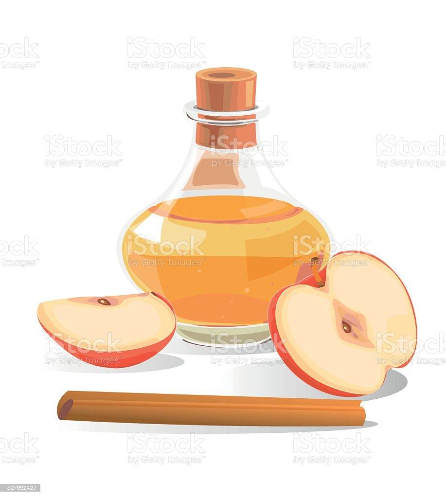 Apfel-Cidre – Vektorgrafik
