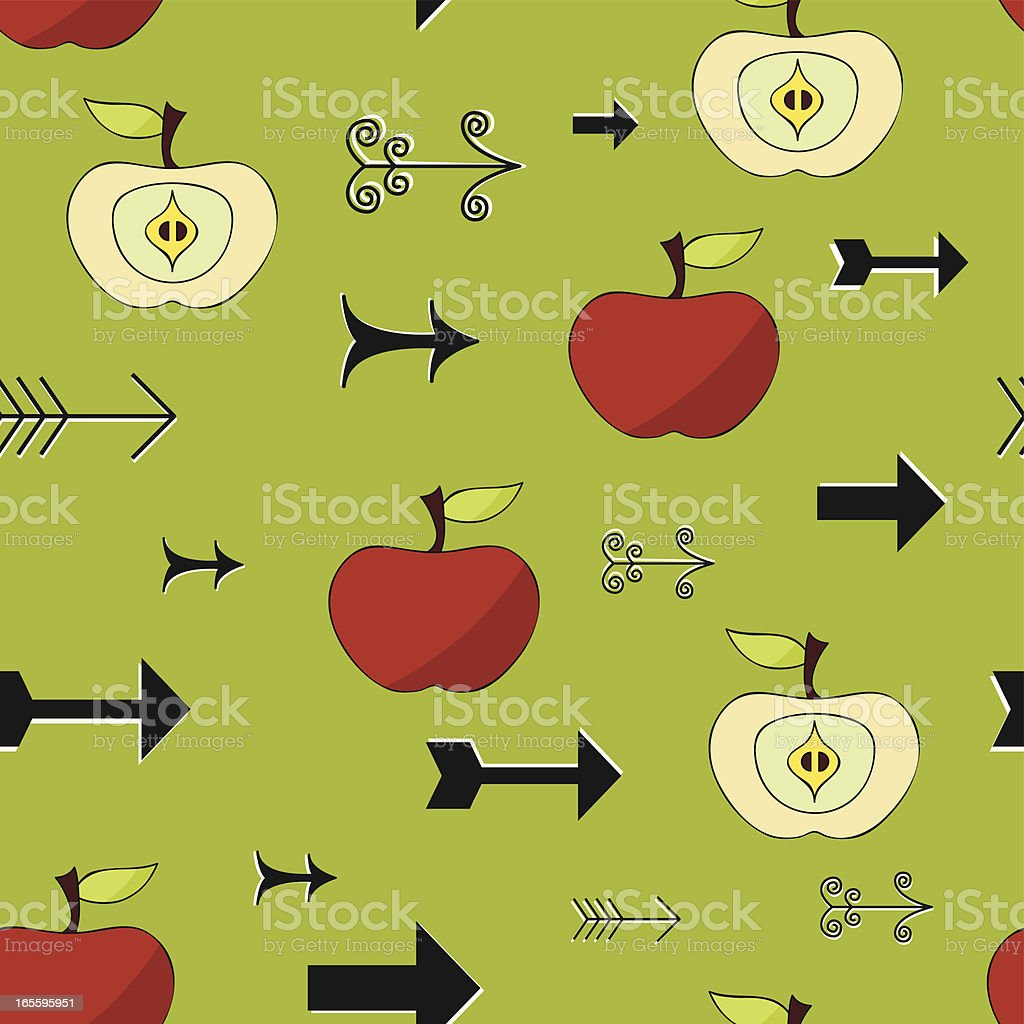 Apples and arrows (Seamless) royalty-free stock vector art