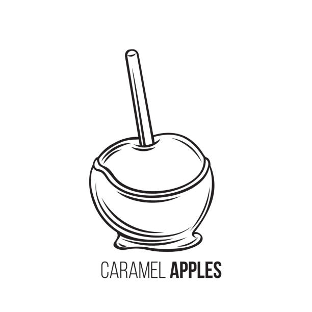 155 Candied Apples Illustrations Clip Art Istock