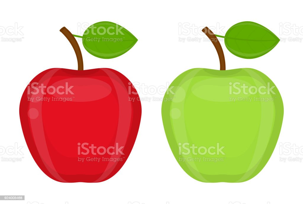 Apples isolated vector art illustration