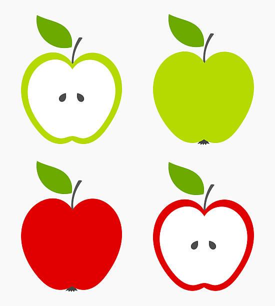 Manzanas - ilustración de arte vectorial