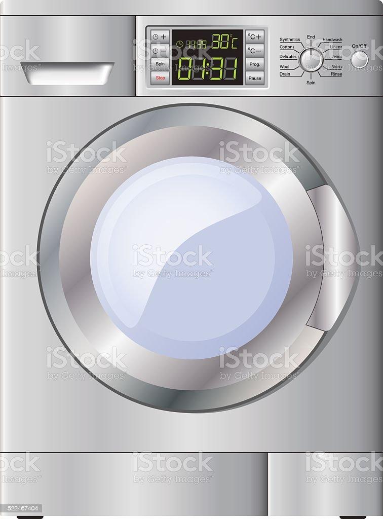 Moderne Waschmaschine geräten moderne waschmaschine isoliert auf weißem hintergrund vektor