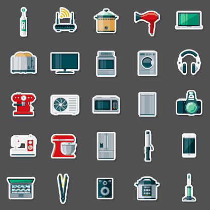Appliances Sticker Set