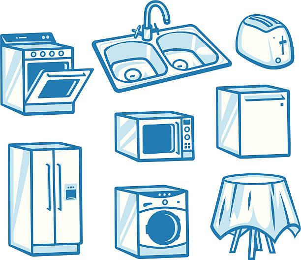 電化製品 - 家庭料理点のイラスト素材/クリップアート素材/マンガ素材/アイコン素材