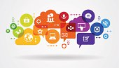 istock Application abstract network 489003405