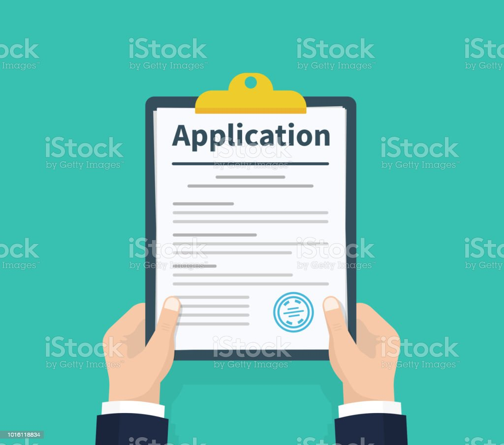 royalty free applying for a job clip art  vector images