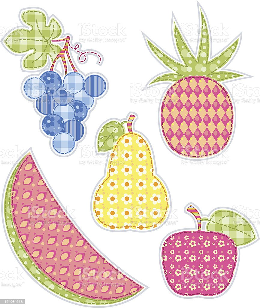 Application fruits set. royalty-free application fruits set stock vector art & more images of agriculture